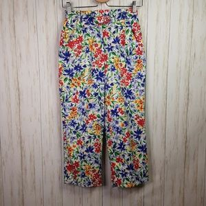 Napa Valley Petites Cropped Floral Pants Small